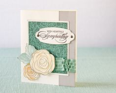 Sympathy card created with base and shade stamp technique #CTMH
