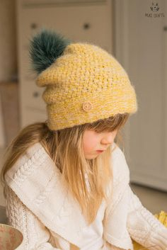 KNITTING PATTERN slouch winter hat Tabatha baby toddler
