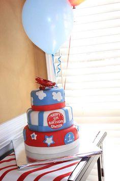 Airplane 1st Birthday cake!