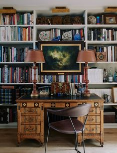 56 Ideas Home Library Study Office Furniture Placement For 2019 London House, Home Libraries, Furniture Placement, Home Office Design, Office Furniture, Decoration, Living Room Decor, Sweet Home, Interior Design