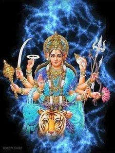 Maa Durga Photo, Durga Maa, Durga Goddess, Navratri Pictures, Happy Navratri Images, Durga Images, Lord Shiva Hd Images, Hindus, Nav Durga Image
