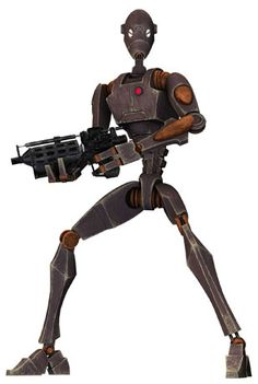 Commando Droid aka BX Droid (used for stealth missions, like taking over the Rishi Station) Droides Star Wars, Star Wars Film, Star Wars Characters Pictures, Star Wars Images, Coleccionables Sideshow, Cyberpunk, Star Wars Battle Droids, Star Wars Personajes, War Machine