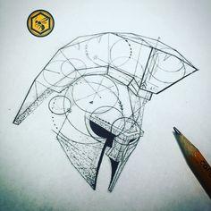 Gladiator helmet sketch
