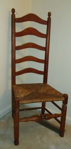 2X 18th Century Delaware Valley Ladder Back Ladderback Chairs Important And  Fine #DelawareValley Colonial Bedroom