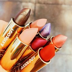 Axiology lipsticks contain just 10 good for you ingredients Clean Beauty, Lipsticks, Cruelty Free, Cleaning, Lipstick, Home Cleaning