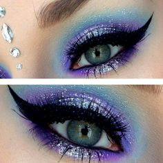 Blue fairy makeup 70 halloween makeup ideas Blaue Fee Make-up 70 Halloween Make-up-Ideen. Colorful Eye Makeup, Blue Eye Makeup, Purple Fairy Makeup, Fairy Eye Makeup, Fairy Costume Makeup, Fairy Halloween Makeup, Eyeshadow For Blue Eyes, Eyeshadow Makeup, Eyeshadows