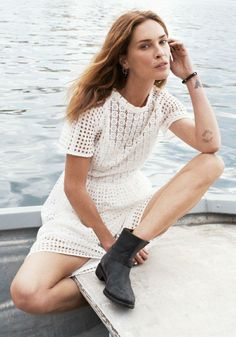 Eyelet Hideaway Dress Madewell Spring 2014, Erin Wasson on location in Malta #denimmadewell