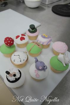 alice in wonderland characters cupcake toppers - Google Search