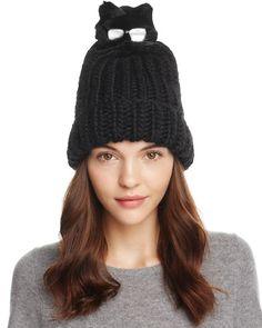 Eugenia Kim Rain Hat with Fur Cat Pom-Pom