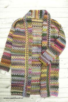 'Let's Granny Vest' gemaakt van de Viva Lang Yarns Crochet Mittens, Crochet Jacket, Crochet Cardigan, Easy Crochet, Crochet Baby, Knit Crochet, Shrugs And Boleros, Lang Yarns, Crochet Fashion