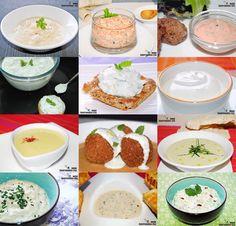 Doce recetas de salsa de yogur