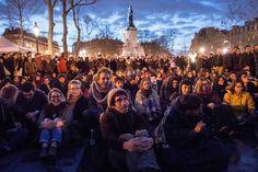 Nuit debout. Place de la République à Paris (06/04/2016)