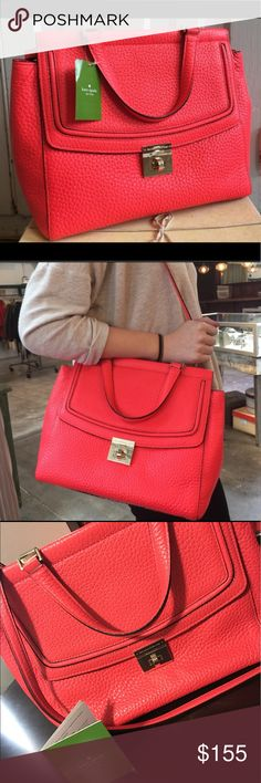 KATE SPADE Bright coral Kate Spade. Like new! Pet free. Smoke free home. Perfect for summer! kate spade Bags Shoulder Bags
