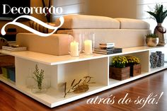 Móveis para decorar atrás do sofá!