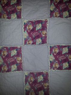Disney Frozen Sisters Forever Rag Quilt 35x45 fb page ragamuffinfleecethrows
