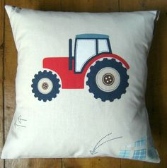 Bespoke covers individually made for you You are purchasing 1 cushion cover professionally made with Tractors Trucks A 100 cotton fabric by Laura