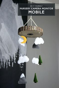 DIY Nursery Camera Monitor Mobile, Baby Room Decoration Idea