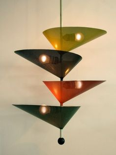 Mathieu Matégot Ceiling Light 1950s