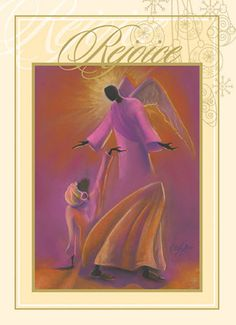 mary and angel african american christmas card box set of 15