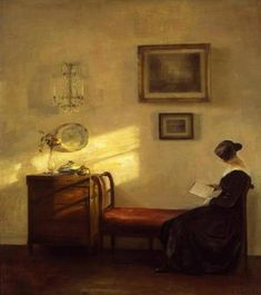 https://www.facebook.com/MiaFeigelson  By Carl Vilhelm Holsøe, from Denmark (1863 - 1935) - Oil on canvas - [Danish School of Interior Painting, founded in 1888]