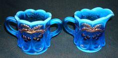 Westmoreland Glass Cherry Line 109 Blue Creamer & by kinseysue