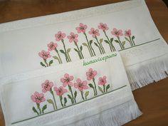 flowers Cross-stitch towels / etamine / cross stitch towels / punto de cruz toalla To order; Baby Knitting Patterns, Blackwork, Towel, Cross Stitch, Embroidery, Blog, Handmade, Crafts, Biscuit