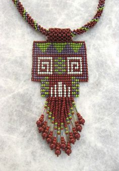 Sead Beaded Earthy Necklace, Ethnic Design, Art Jewelry.