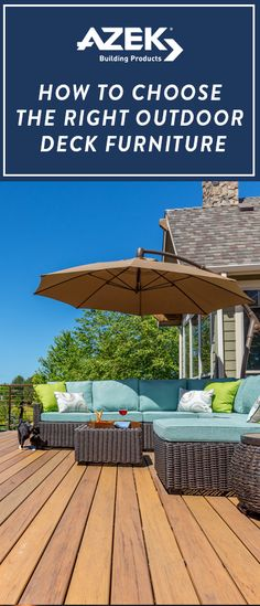 Outdoor furniture can really transform a space! This guide will help you decide what style to pair with your AZEK deck!
