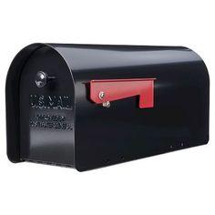Gibraltar Tuff Body Large-Size Iron Post-Mount Mailbox - Black