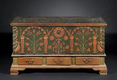 Berks County blanket chest, 1808 — David Wheatcroft Antiques