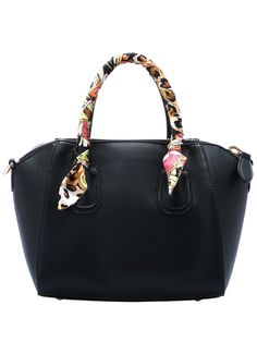 Black Zipper PU Bag 26.09