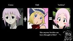 *le gasp* THE RESEMBLANCE IS UNCANNY! 0.0 Crona and Patty Soul Eater