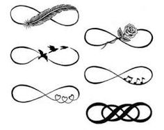 best tattoos children's names infinity - Google Search