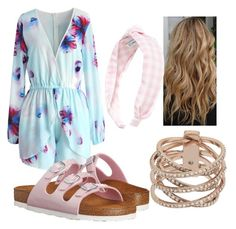 """""""Untitled #7"""" by maddiegbrink on Polyvore featuring L. Erickson, Chicwish, Michael Kors and Birkenstock"""