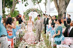 michelle   danh | destination wedding | four seasons jimbaran bay | bali indonesia | recessional