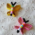 Spring Crafts for Kids: 17 Flower Crafts, Butterfly Crafts, and Bug Crafts, Crafts To Do, Kids Crafts, Craft Projects, Arts And Crafts, Rock Crafts, Easy Crafts, Cardboard Tube Crafts, Toilet Paper Roll Crafts