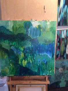 Trees textures in acrylic fluids Jcdc.com.au Christianity, Aquarium, Trees, Texture, Studio, Painting, Surface Finish, Aquarius, Study