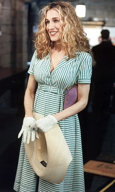 "This is Carries 'How do you do?' moment,"" Rubenstein said of the demure Romeo Gigli dress Carrie wore early on in Season 1. ""This show wouldn't have been a success if we didn't fall in love with Carrie. As for Weinberg? ""I think she looks like a candy striper,"" she said."