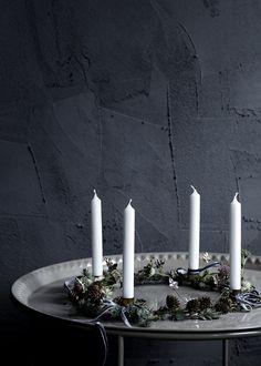 candles | Xmas decoration . Weihnachtsdekoration . décoration noël | Broste Copenhagen A/W14 | Styling:: Marie Graunbøl | Photo: Line Thit Klein |