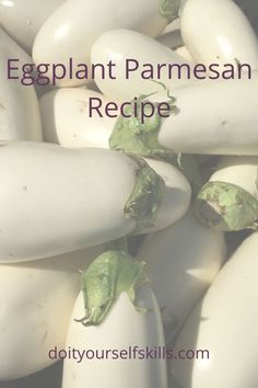 This baked eggplant Parmesan is made with WHITE eggplant, and is the tastiest and easiest recipe ever! White Eggplant Recipes, Eggplant Dishes, Baked Eggplant, Eggplant Parmesan, Healthy Cooking, Healthy Recipes, Healthy Eats, Yummy Recipes, Dinner Recipes