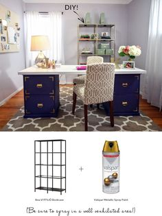 Ask Nicole: Where Can I Find a Stylish   Love the DYI-bookcase-Ikea bookcase and gold spray paint..Love it!