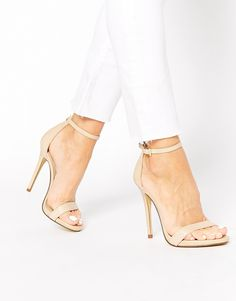 New+Look+Paz+Nude+Leather+Barely+There+Heeled+Sandals 34