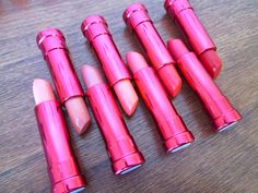 belle aMiki: 100% Pure Pomegranate Lipstick Swatches + Review