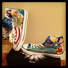 9549faa8e9eb Converse shoes Wonder Woman. Now if they had Superman Converse I would be  in heaven