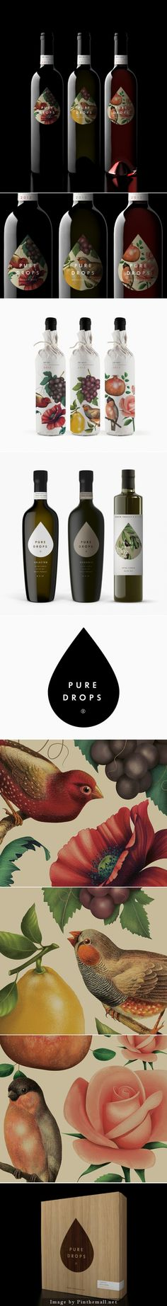 Gorgeous illustrated Pure Drops packaging PD