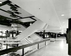 Escalators at Southland Shopping Centre, 1968