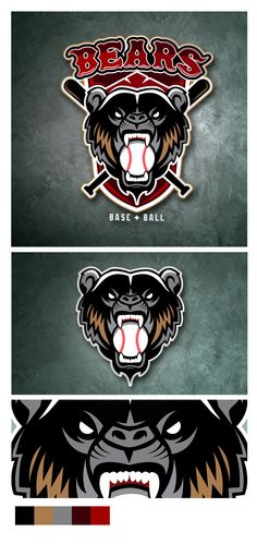 Bears baseball team on Behance