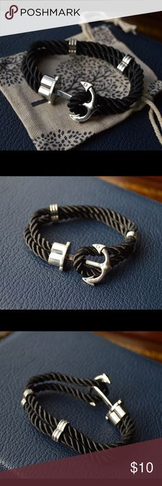 NEW nautical anchor bracelet NEW Anchor Bracelet Nautical Anchor Sailor Rope Bracelet for men or women will fit most wrists. Have other colors available! Bundling 20% until New Years! Jewelry Bracelets