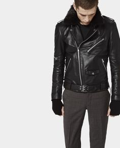 Biker jacket with padded back - The Kooples - £645.00