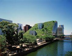 Das ACROS Fukuoka zählt zu den Pionierarbeiten der ökologischen Architektur und hat sich damit zu einem neuen Wahrzeichen Fukuokas entwickelt.
